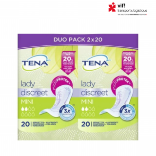 TENA Lady Discreet - Serviette hygiènique Mini 2x20
